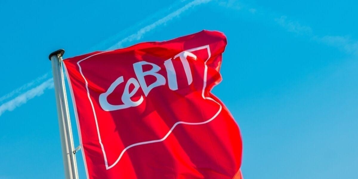 Cebit-Fahne