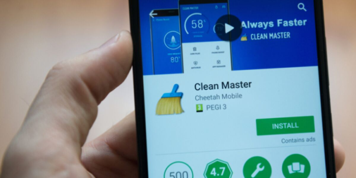 Clean Master App in Android Smartphone