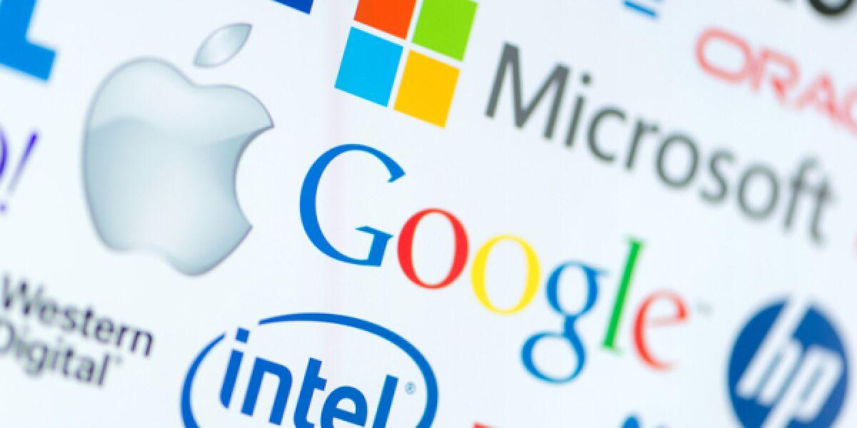 Apple, Microsoft, Google und Co