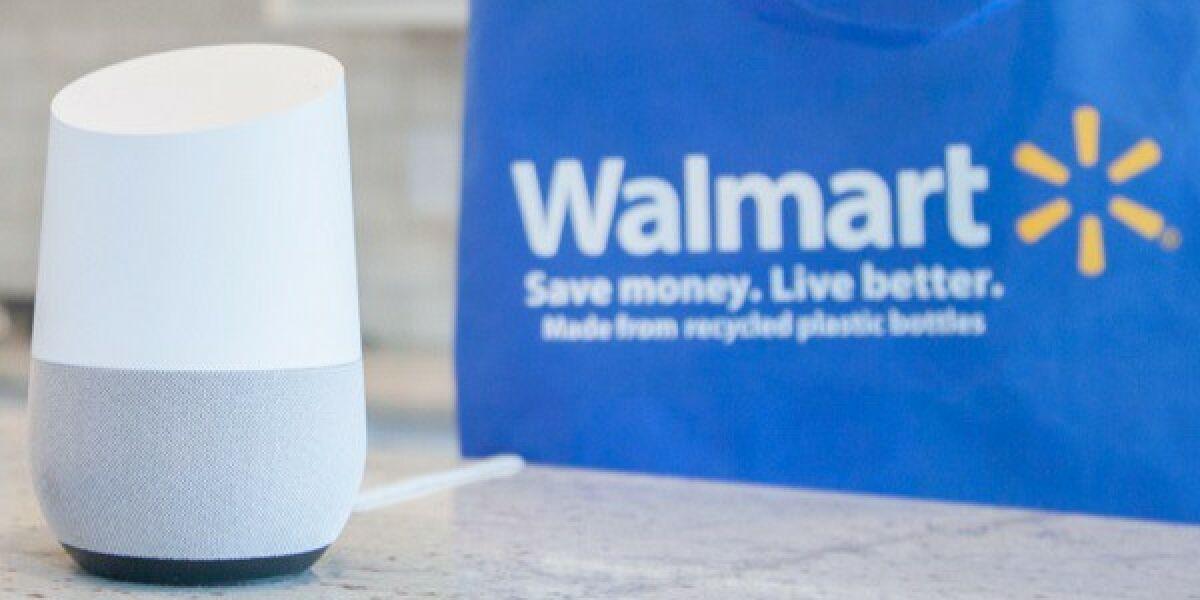 Google Home und Walmart Tasche