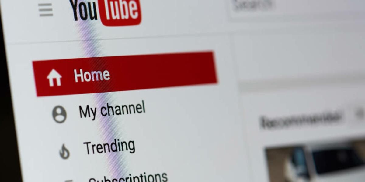 Website von YouTube