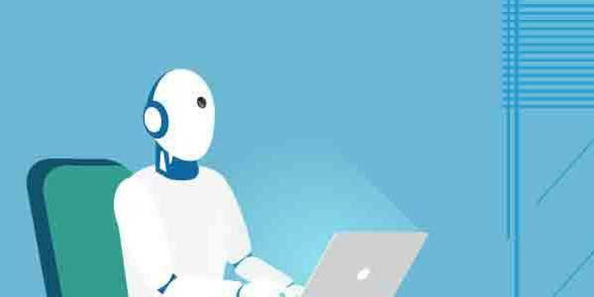 Roboter am Schreibtisch