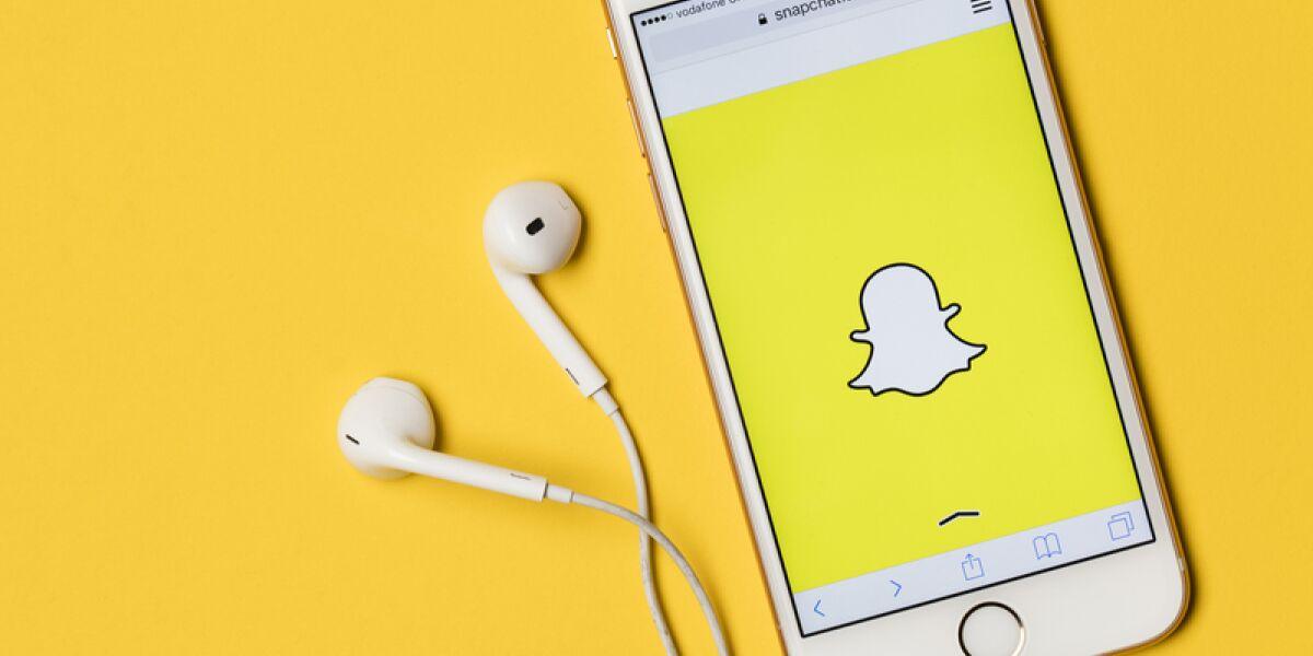 Snapchat App auf dem Smartphone