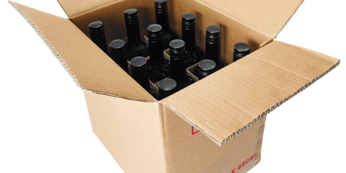Weinflaschen im Versandkarton