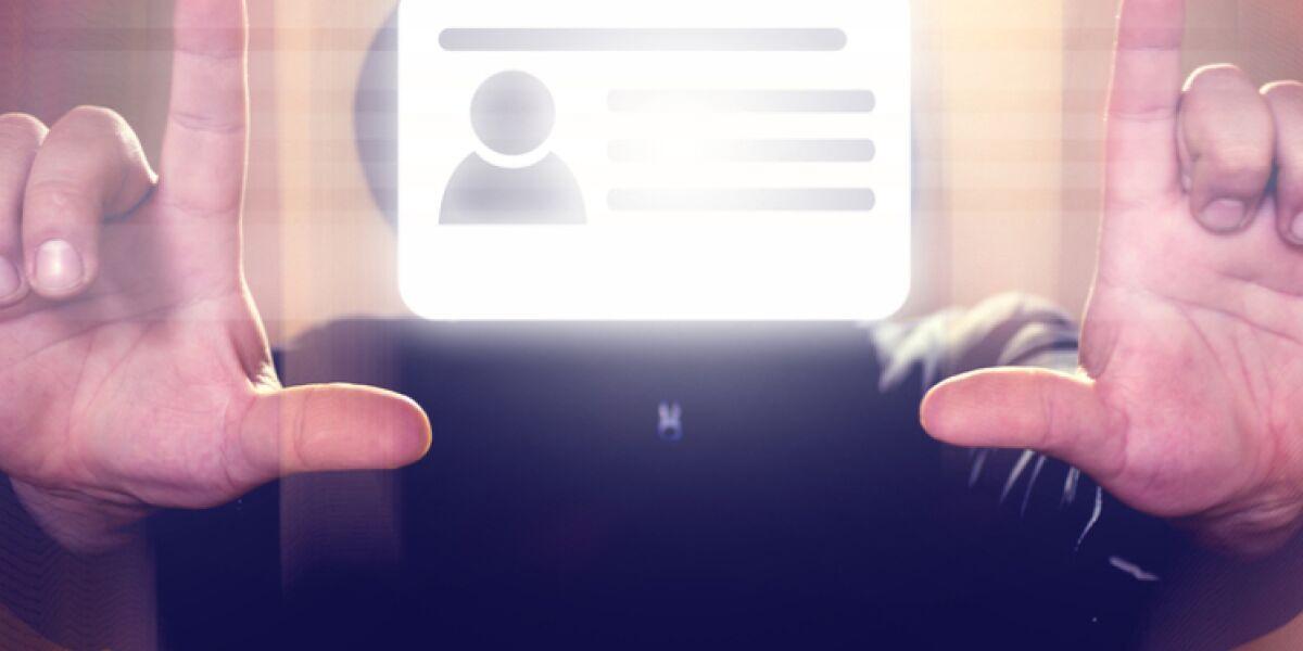 Hacker mit virtueller ID