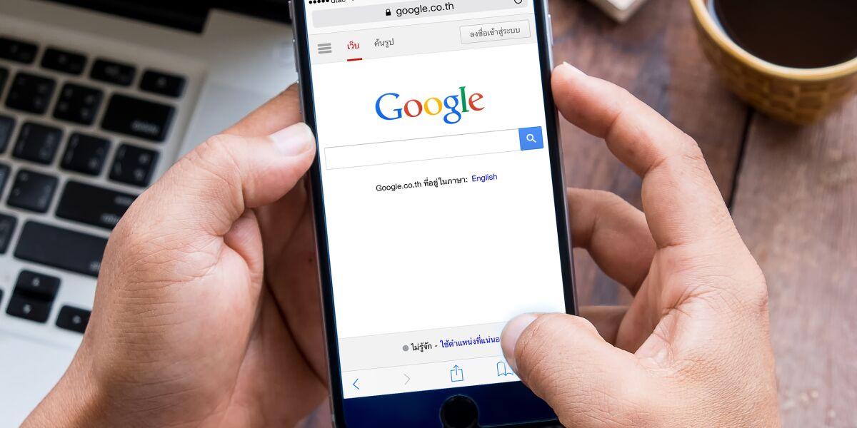 Google-Suche auf Smartphone