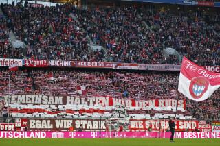 Zuschauer in der Allianz Arena