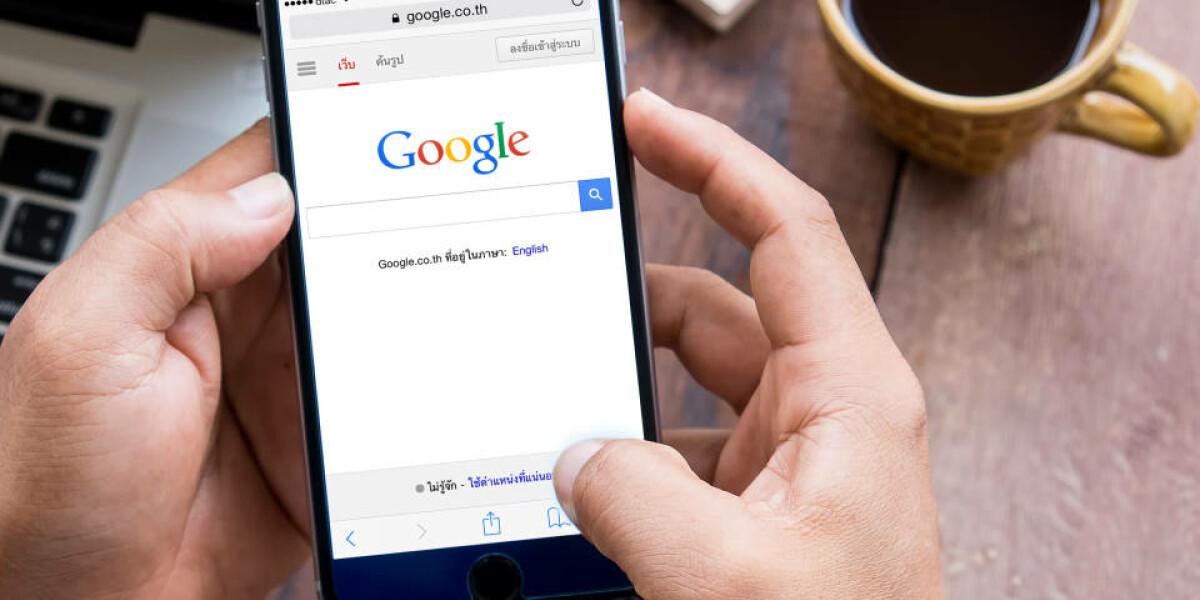 Google auft dem Smartphone