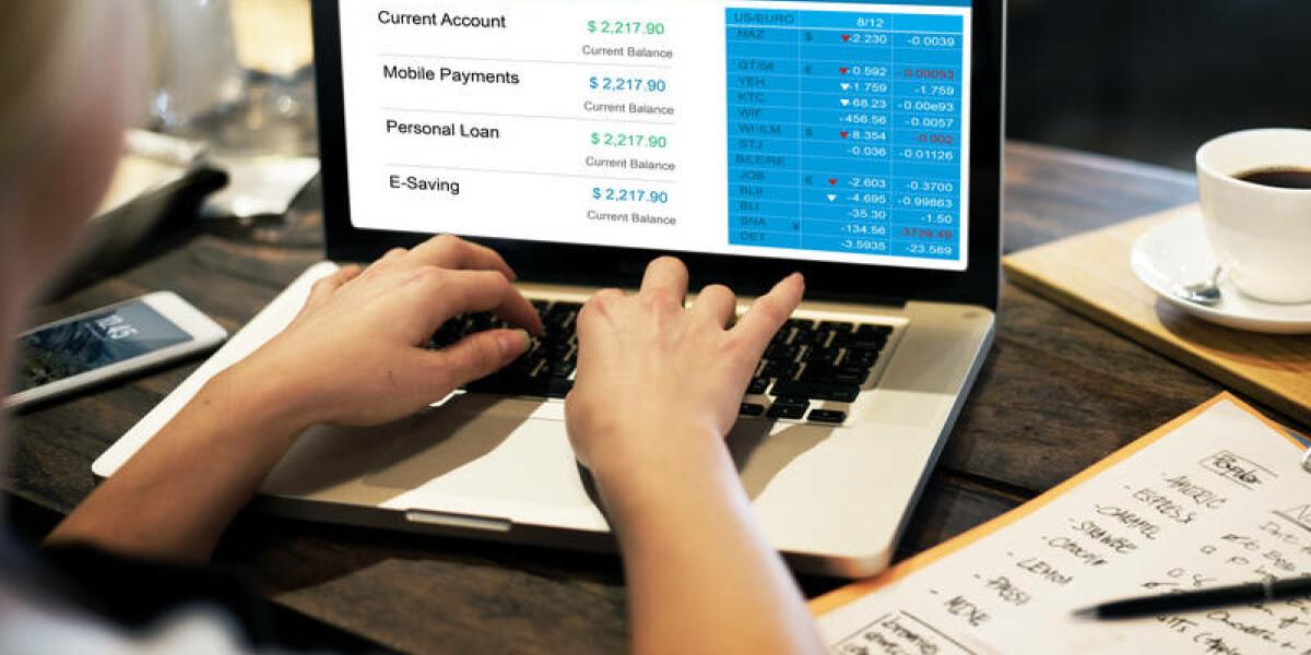 Online-Banking mit dem Laptop