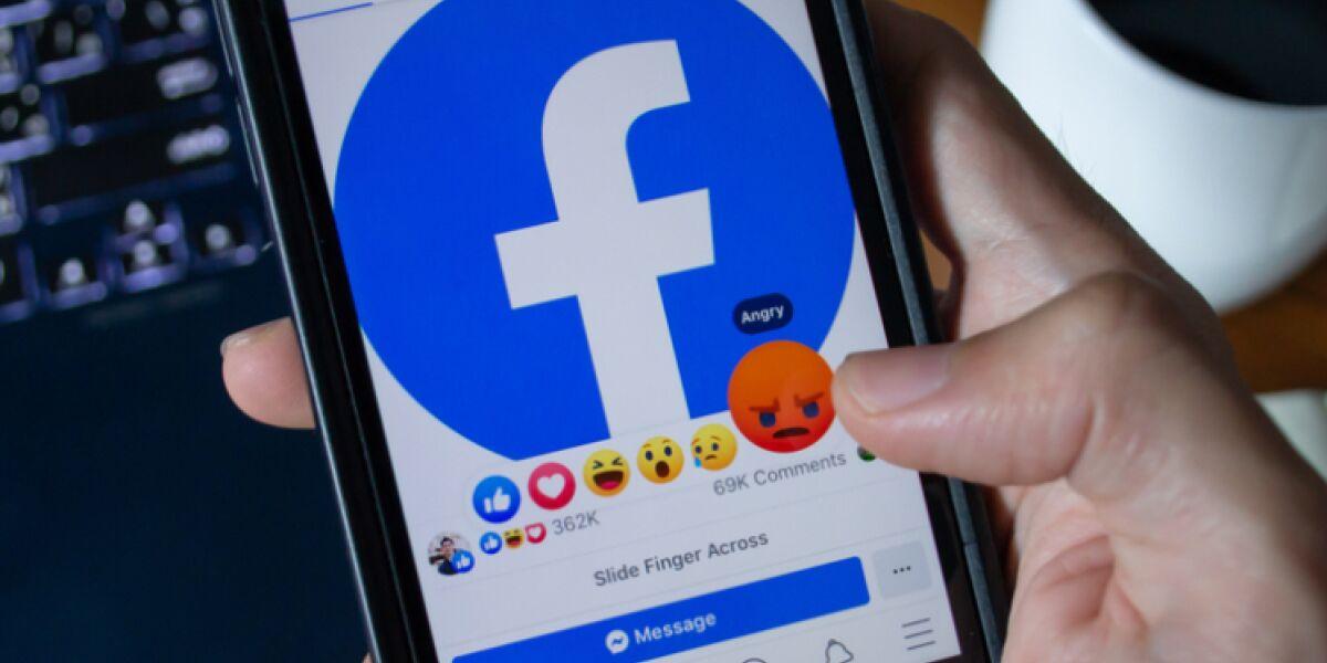 Facebook-App auf dem Handy
