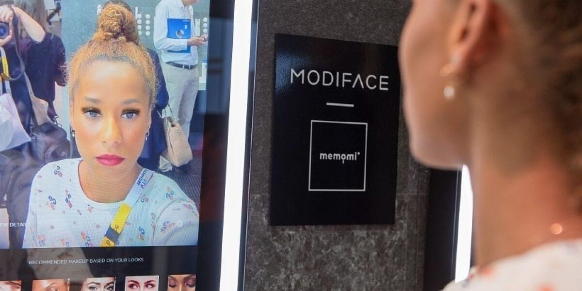 Anwendung von Modiface