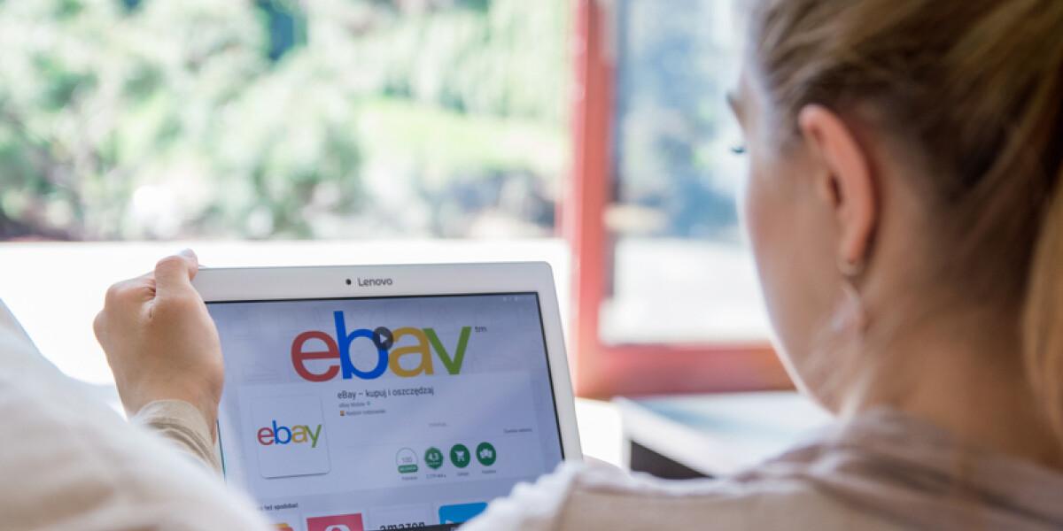 eBay auf dem Laptop