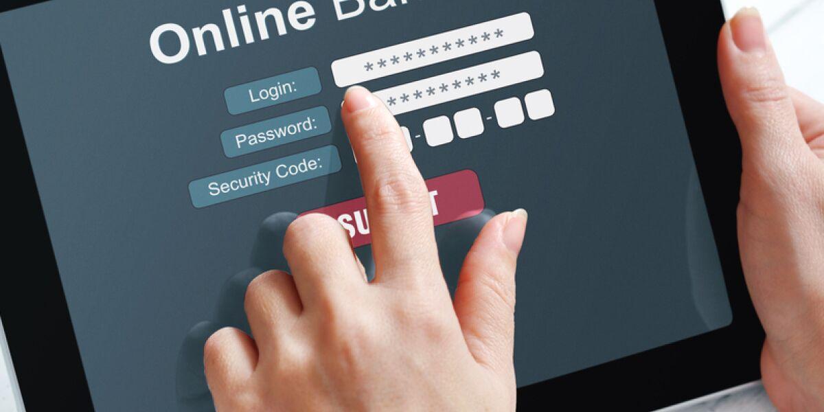 Online-Banking auf dem Tablet