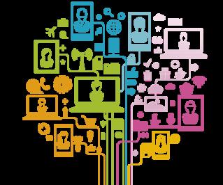 Symbole zum Thema Social Media