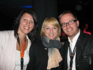 Partner des Webfuture Awards: Wolfgang Enking (Microsoft), Dörthe-Julia Zurmöhle (Hamburg@work), Fabian Gewald (Nortax), Michael Hildebrandt (Stage Entertainment)