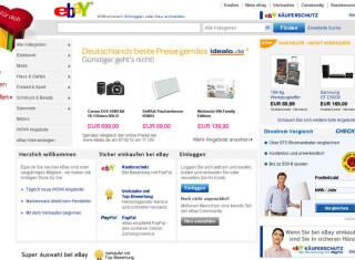 Platz zwei geht an eBay mit 343.755.646 Visits