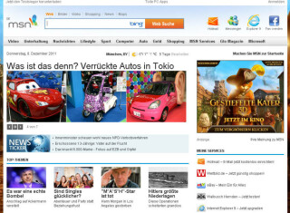 Mit 151.642.317 Visits landet MSN auf Platz sechs