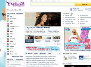 Rang vier geht an Yahoo mit 189.546.785 Visits im November