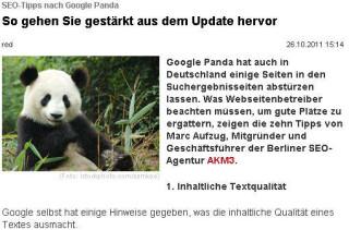SEO-Tipps nach Google Panda