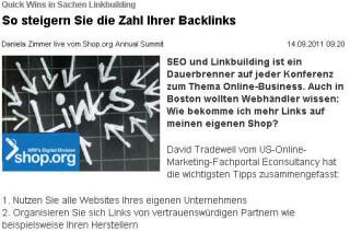 Quick Wins in Sachen Linkbuilding