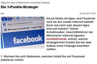 Tipps für eine erfolgreiche Facebook-Fanpage