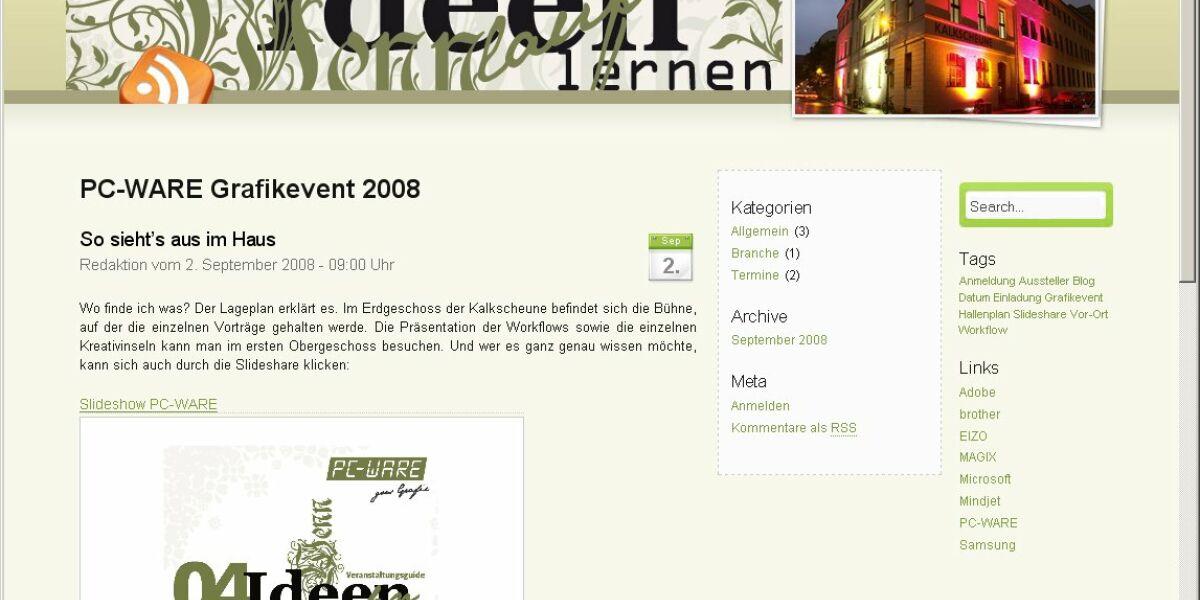 jam&chips produziert Event-Blog für PC-WARE