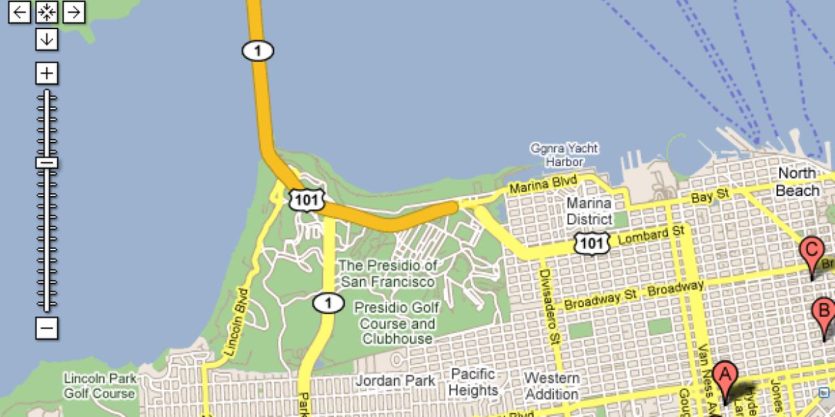 Beispiel für Keyword-Advertising bei Google Maps
