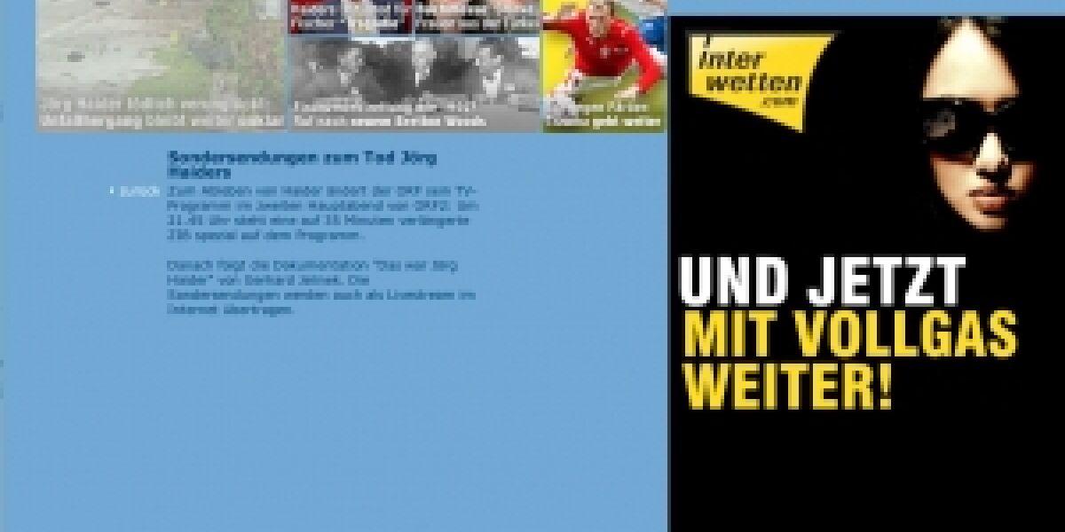 Belegseite von ORF.at