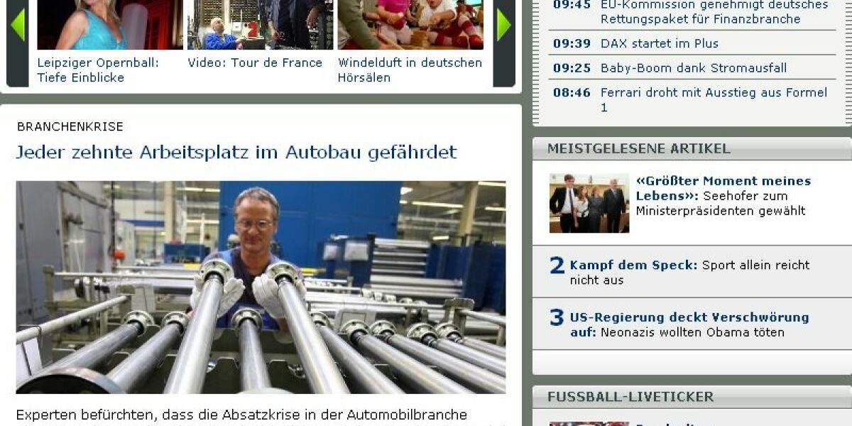 Screenshot von News.de