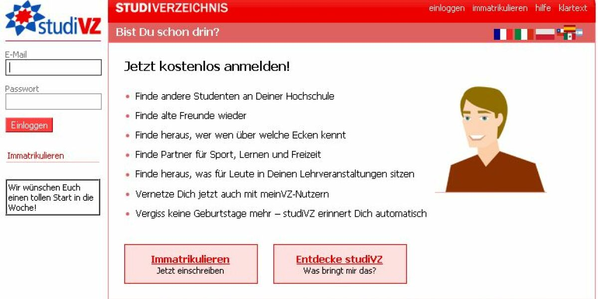 StudiVZ-Screenshot