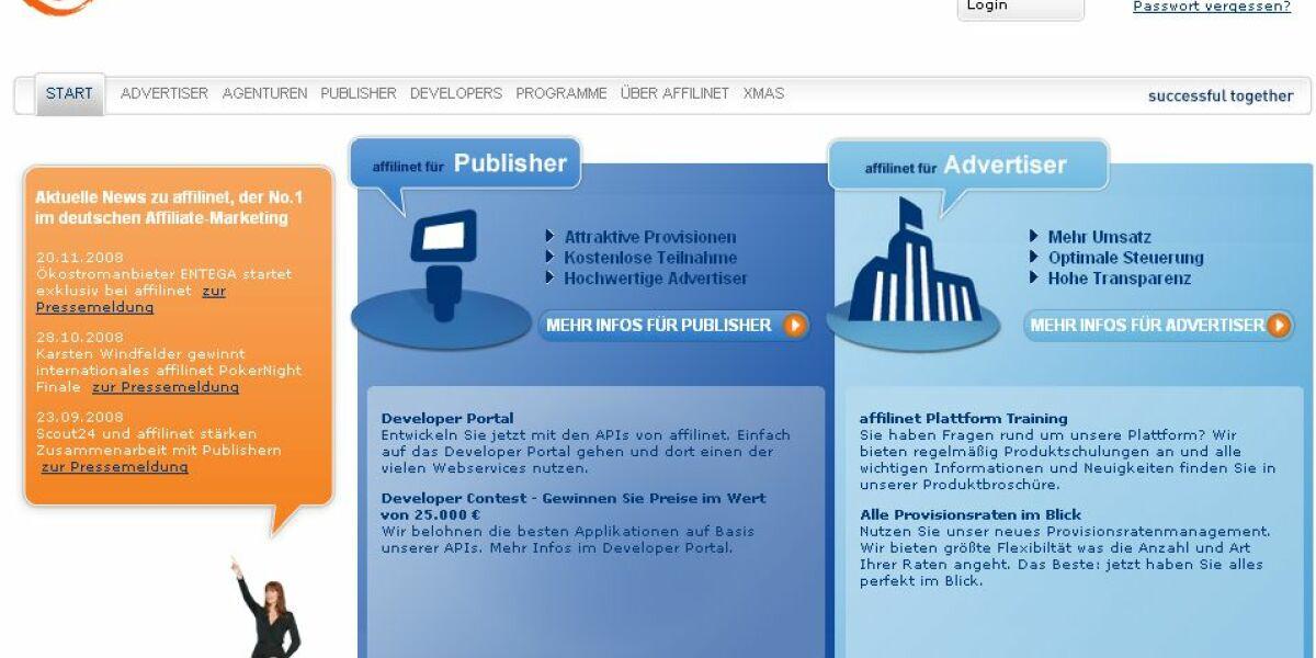 Affilinet-Screenshot