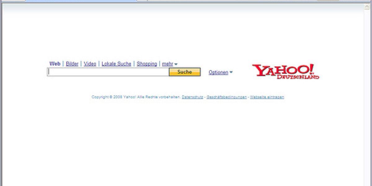 Yahoo-Suche