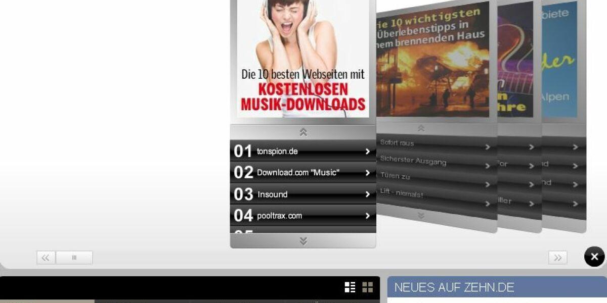 Screenshot Zehn.de