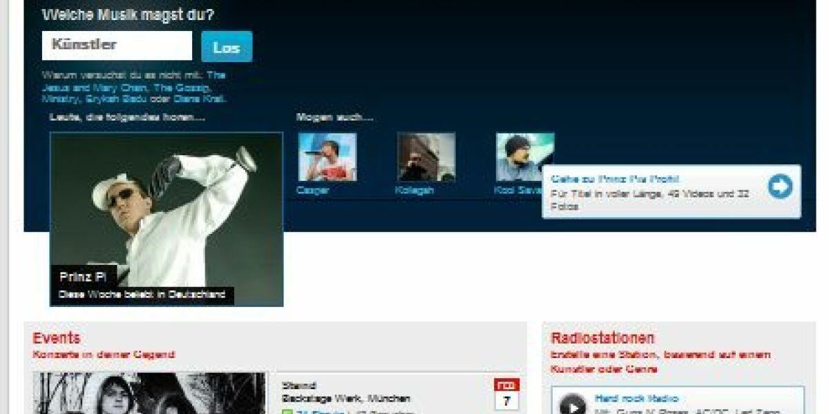 Screenshot Last.fm