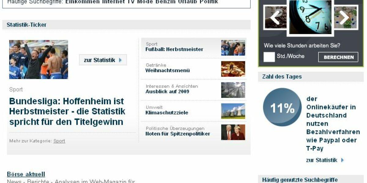 Screenshot Statista.de