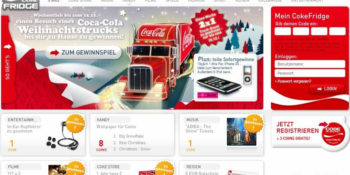 Screenshot Cokefridge.de