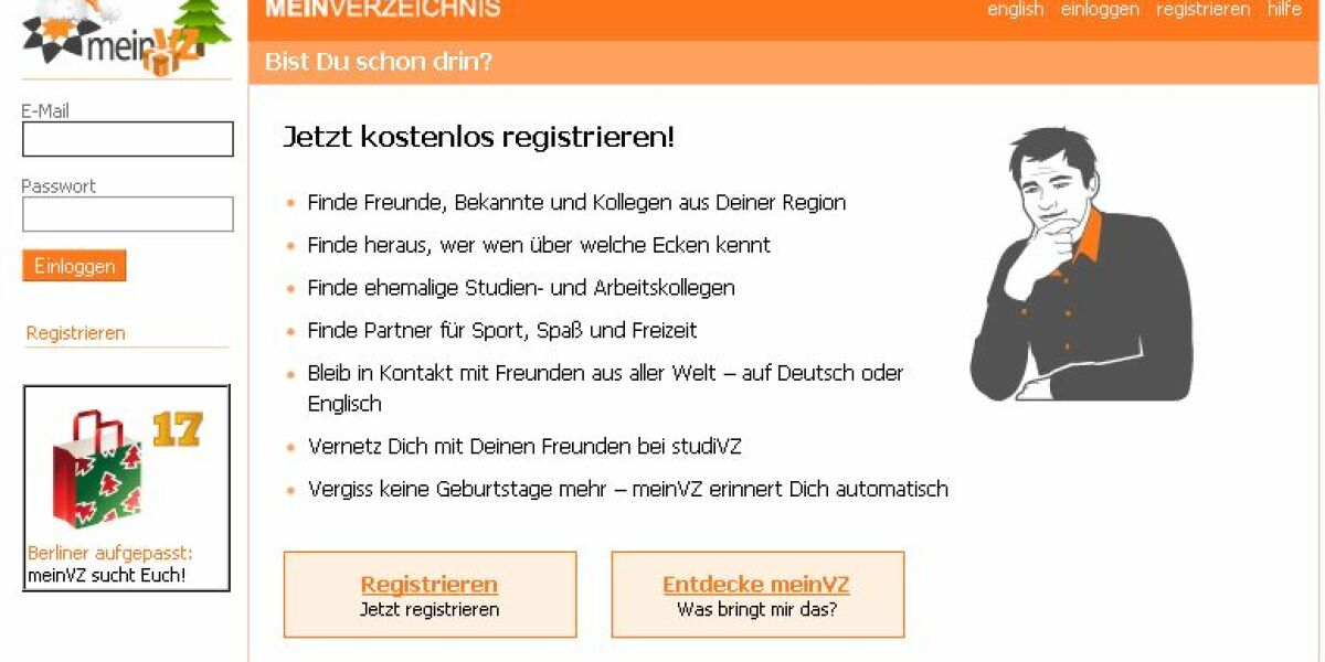 Screenshot MeinVZ