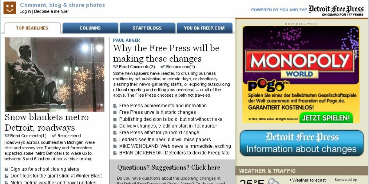 "Screenshot ""Detroit Free Press"""