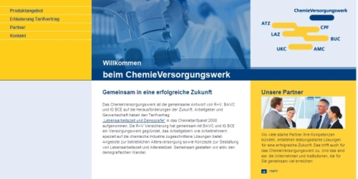 netz98 erstellt Microsite das-chemie-versorgungswerk für die R+V Versicherung