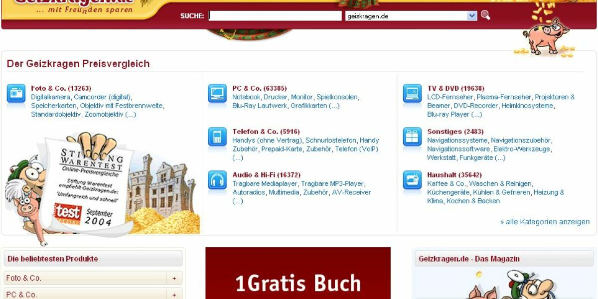 Screenshot Geizkragen.de