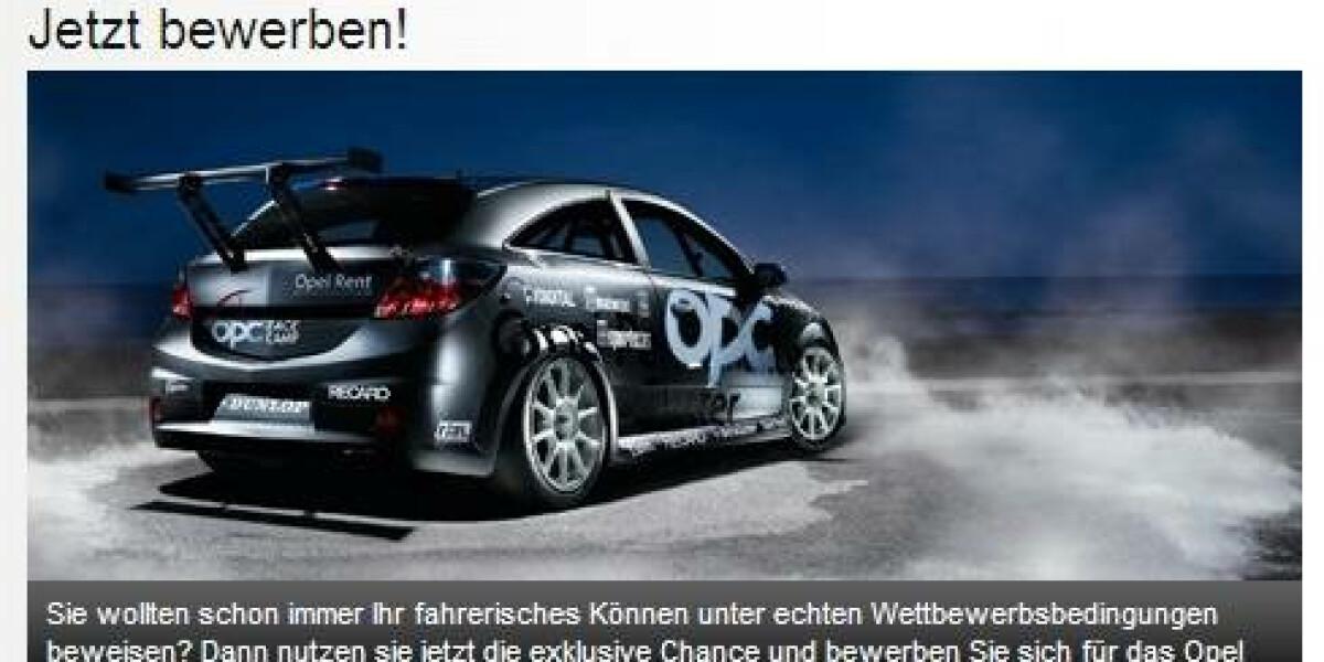 Rennfahrer gesucht: Sport1 kooperiert mit Opel