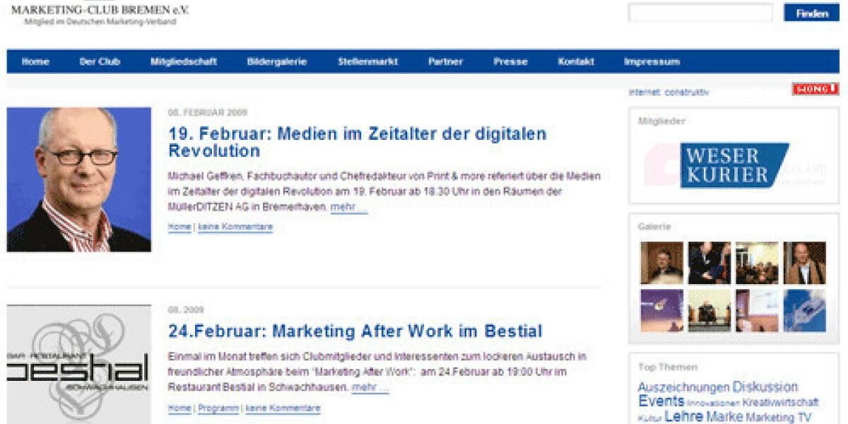 Marketing-Netzwerk mit neuer Wordpress-Website