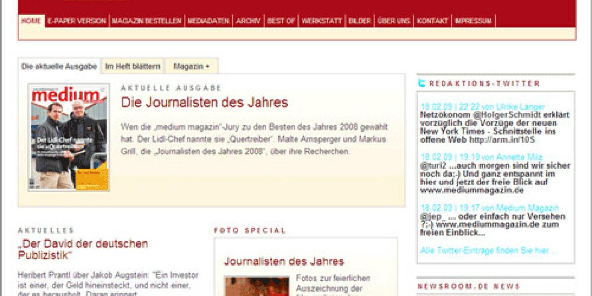 Journalisten-Magazin relauncht Onlineauftritt
