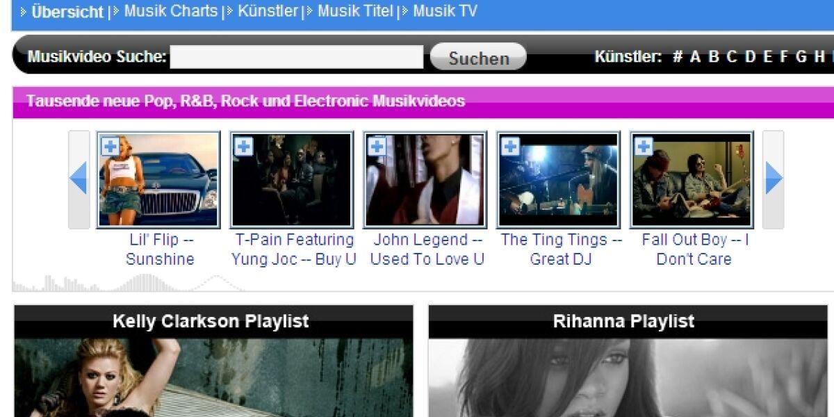 MyVideo zeigt Warner Musikclips