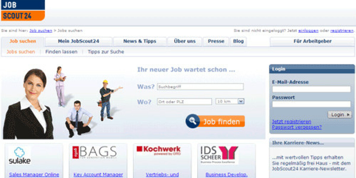 JobScout24 relaunched sein Portal