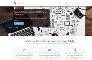 Adsoul-webseite-Screenshot