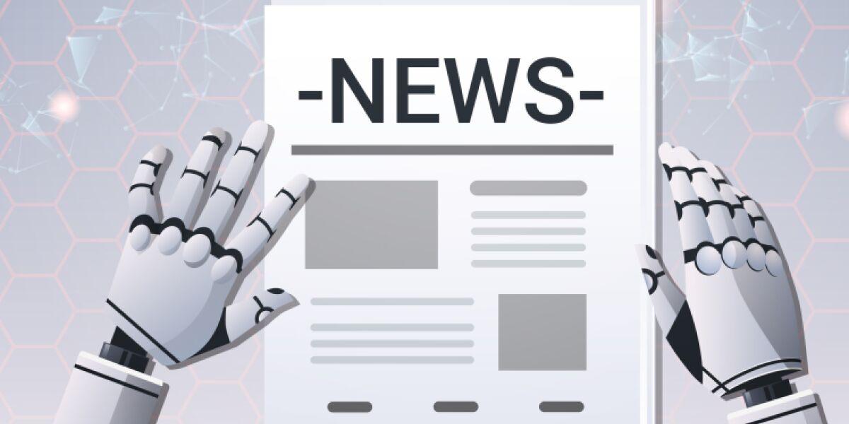 Roboter liest Nachrichten