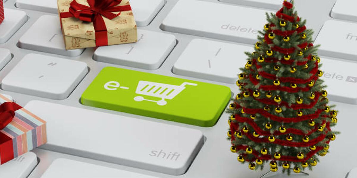 Weihnachtsbaum auf Tastatur