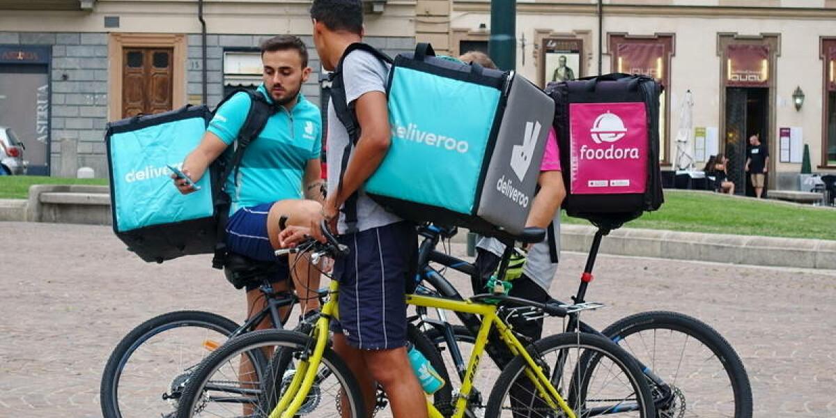 Fahrer von Foodora und Deliveroo