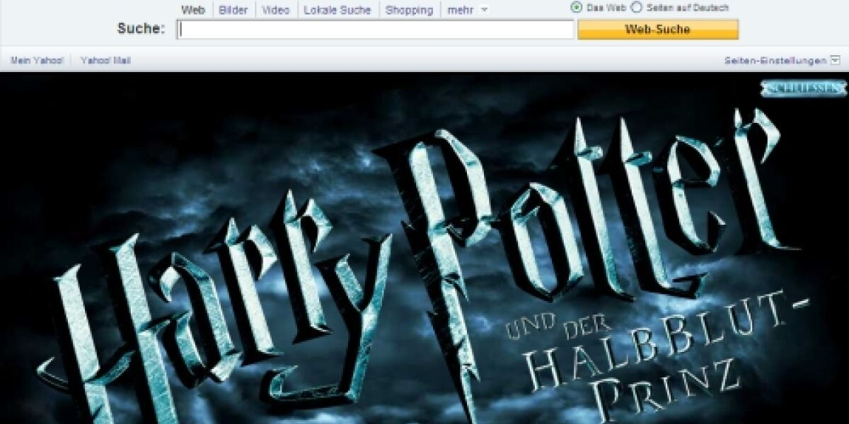 Harry Potter verzaubert Yahoo
